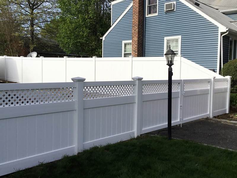 PVC Vinyl Fence installation in Brookhaven NY