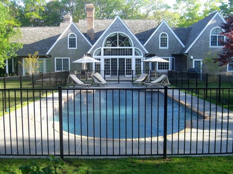 Aluminum fence installed in Smithtown NY