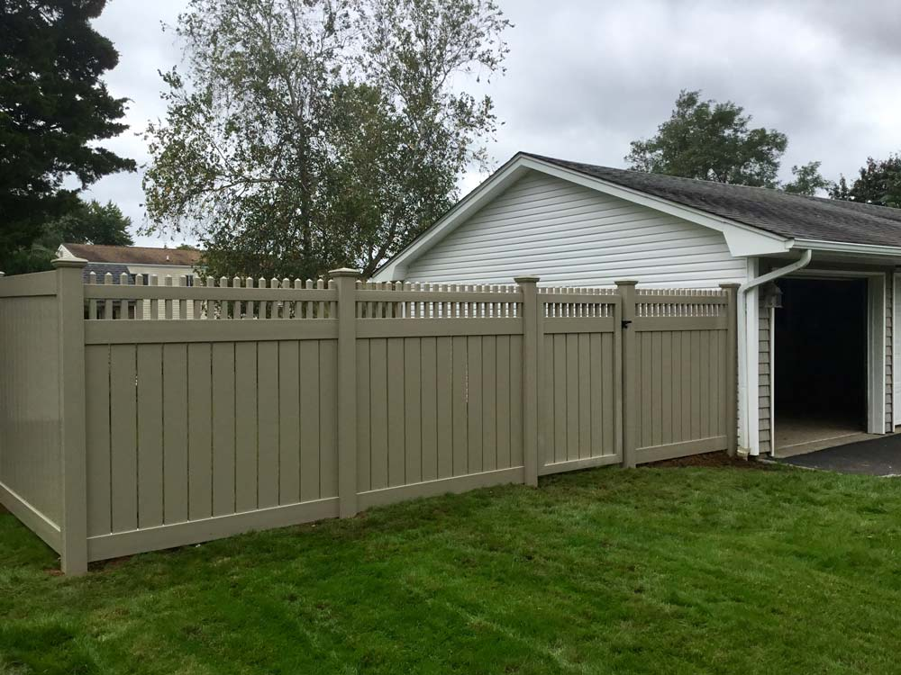 Semi Private PVC Fence installed in Long Island, NY by Sunrise Custom Fence