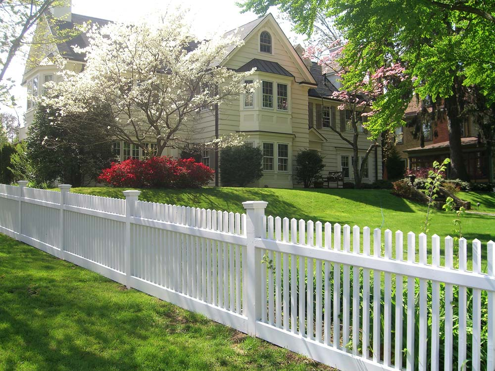 Wooden picket fence installed in Long Island, NY