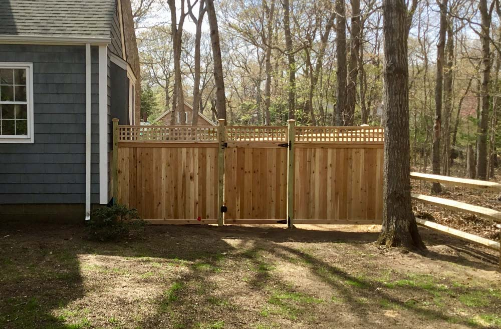 Wood fence and gate installation by Sunrise Custom Fence