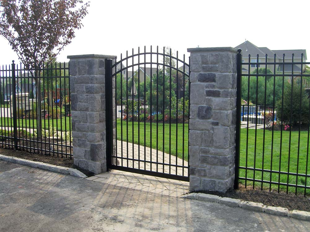 Aluminum Estate Fence installed by Sunrise Custom Fence in Miller Place, NY