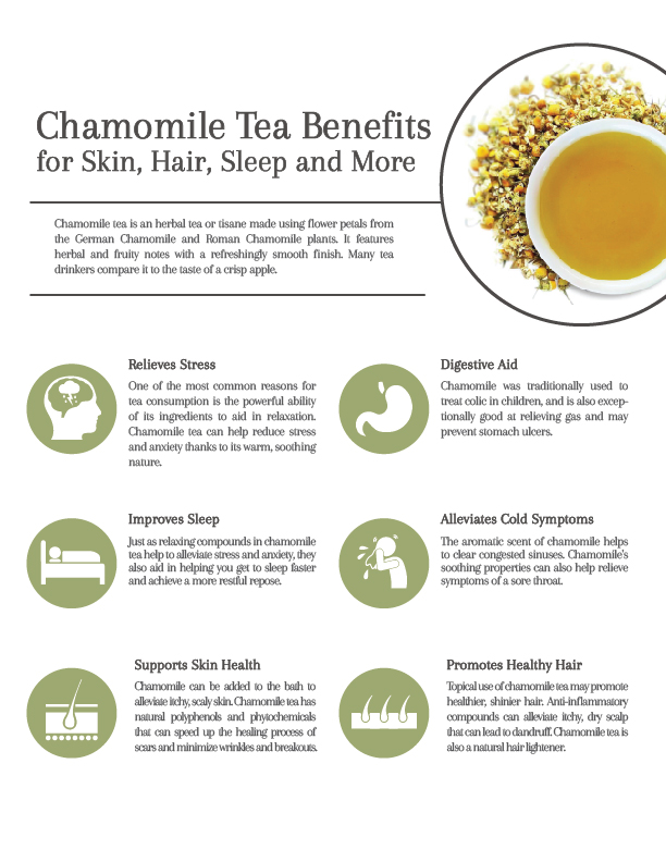 chamomile tea benefits for skin  hair  sleep and more