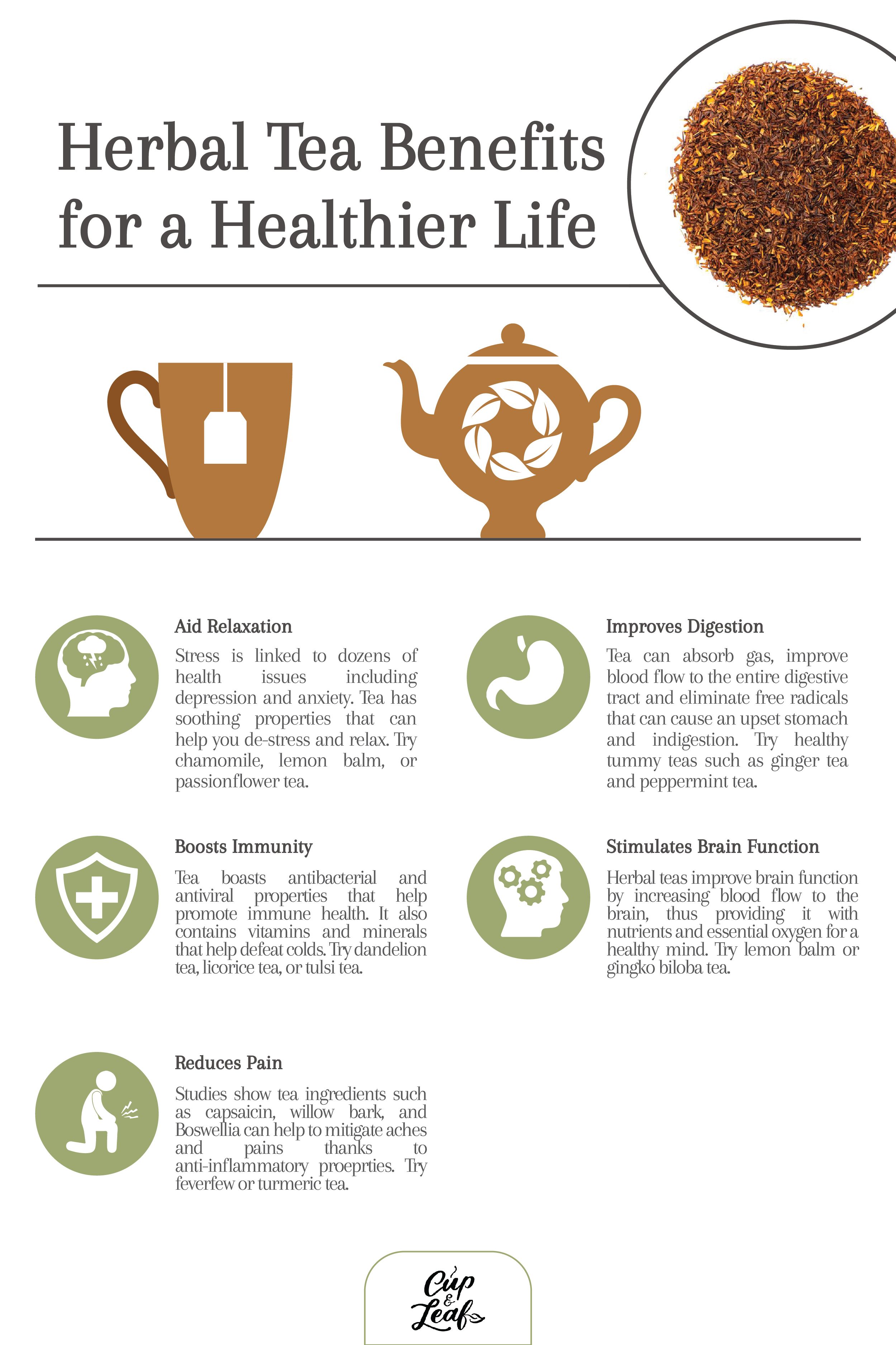 7 Herbal Tea Benefits for a Healthier Life - Cup & Leaf