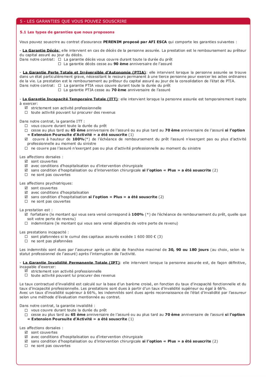 Exemple d'une fiche standardisée d'information page 2