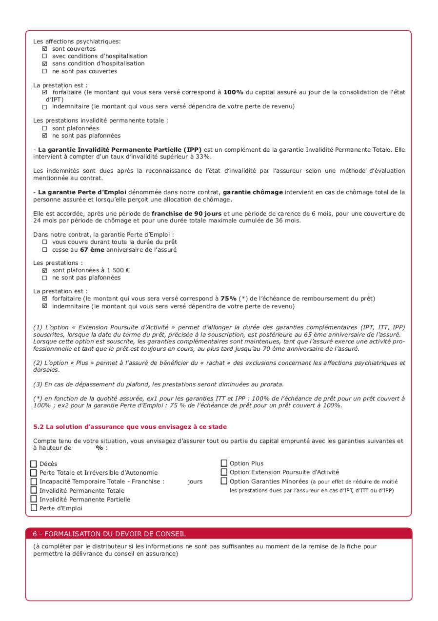 Exemple d'une fiche standardisée d'information page 3