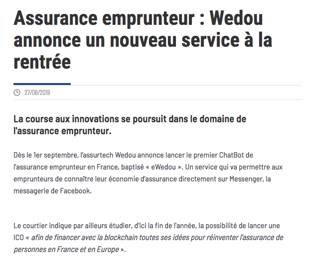 la course aux innovations se poursuit dans  l'assurance emprunteur