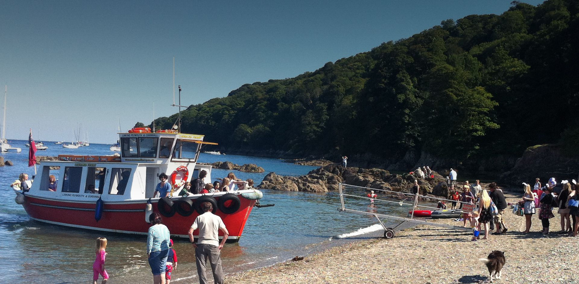 The Cawsand Ferry landing on Cawsand Beach