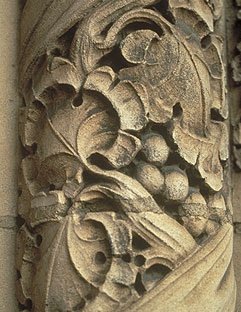 Floral Carving at Main Doors (Detail)