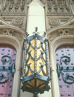 Exterior Light at Entrance to Chapel