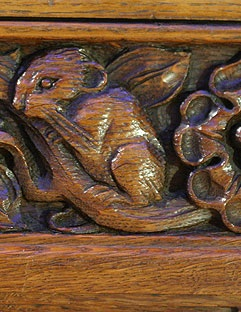 """Church Mouse"": Choir Rail Carving"