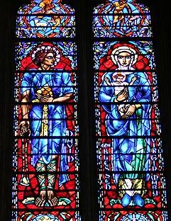 David of Israel and Virgin Mary