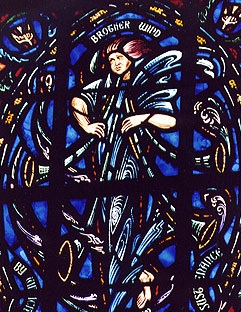 The Canticle of the Sun Window: Brother Wind