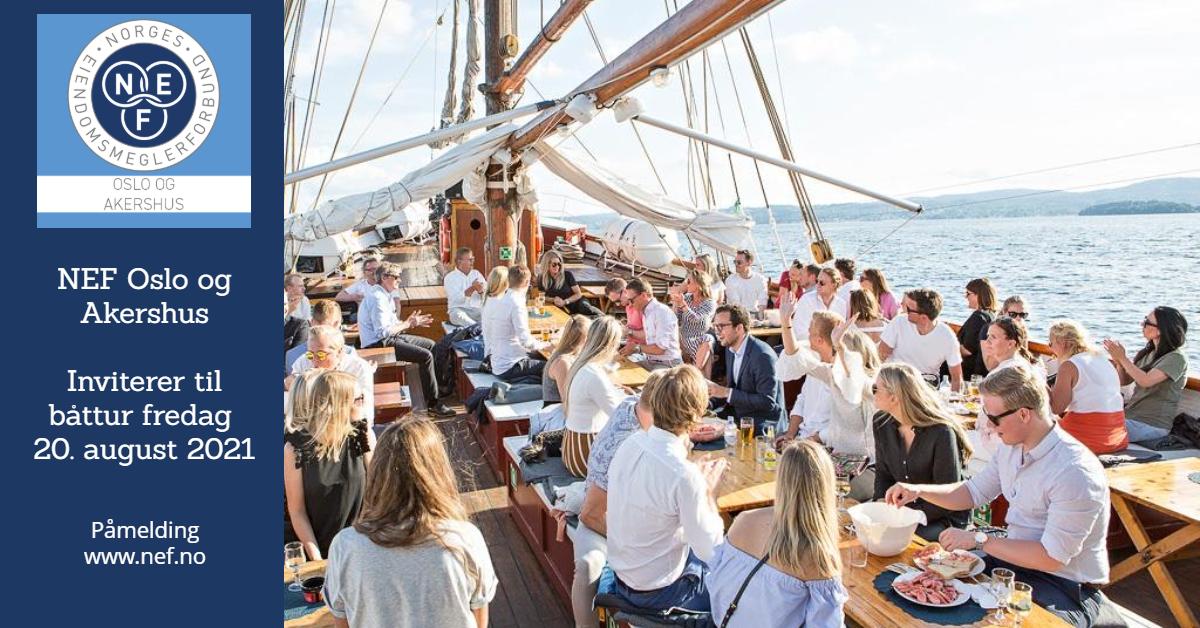 NEF Oslo og Akershus/NEF Ung inviterer til årets båttur med underholdning fredag 20. august 2021!