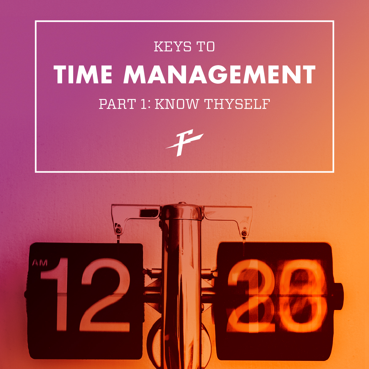 Keys To Time Management: Know Thyself graphic with scale