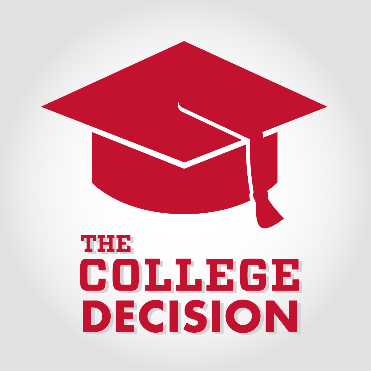 The College Decision: It's Not Just About Academics Graphic with Cap