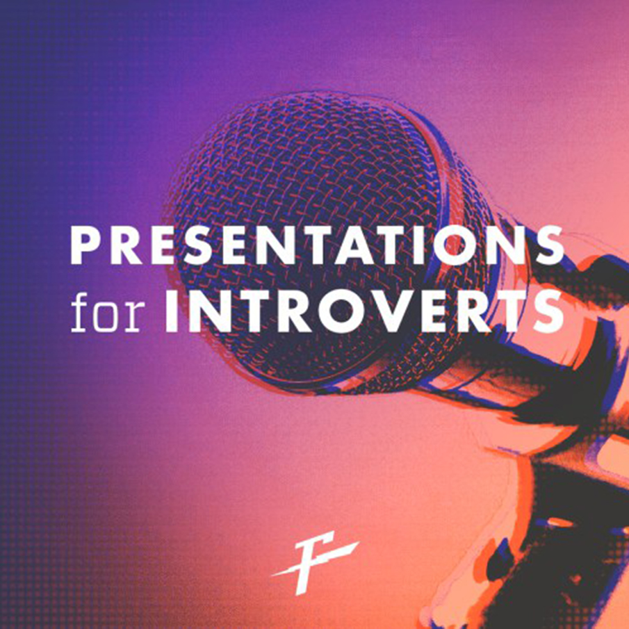 Presentation For Introverts graphic with mic