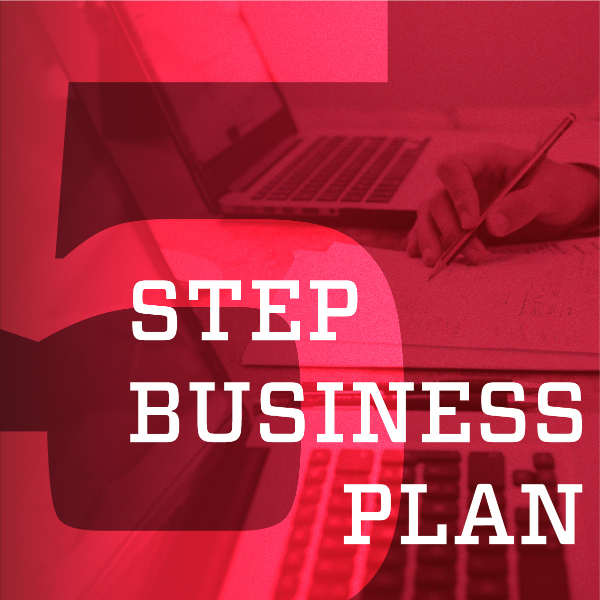 5 step business plan graphic