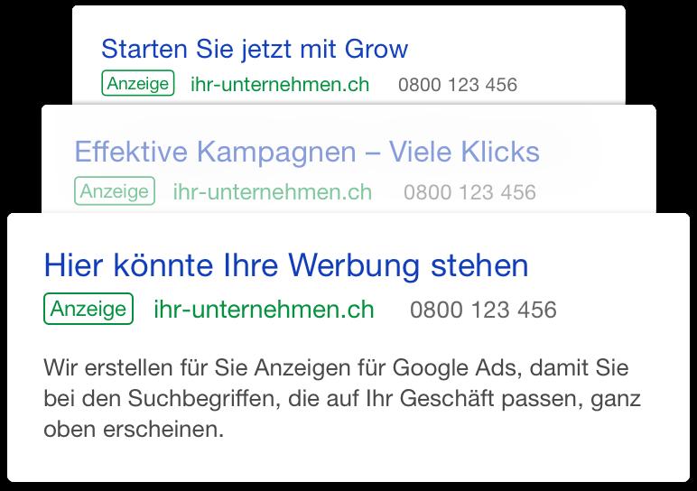 Google Ads für KMU mit NextBusiness Grow