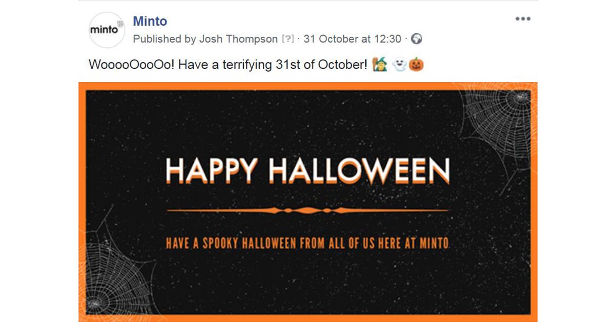 Minto Spooky Halloween Post Image