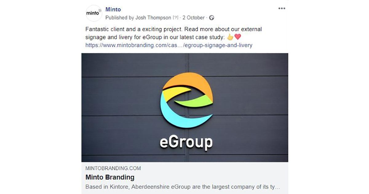 Egroup Logo - Minto Case Study Post Image
