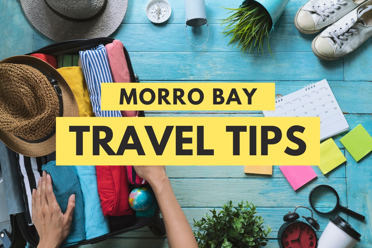 Morro Bay Travel Tips - Luggage, hats, shoes, and other travel objects