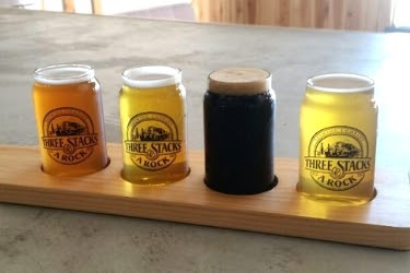 Beer Samples at Three Stacks and Rock Brewing