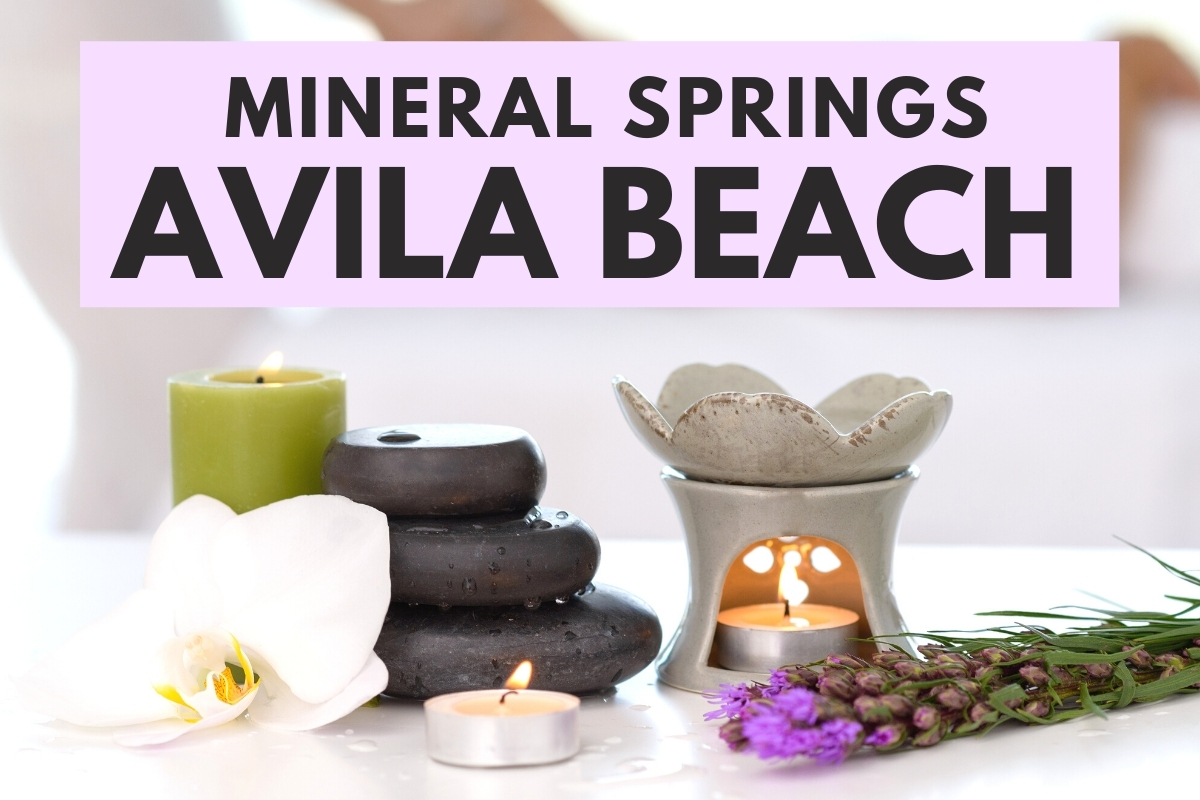 SPA with candles, flowers and rocks - Mineral Springs Avila Beach