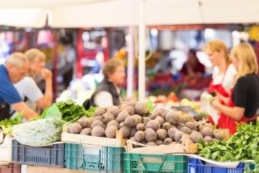 Fresh Produce in a Farmer's Market