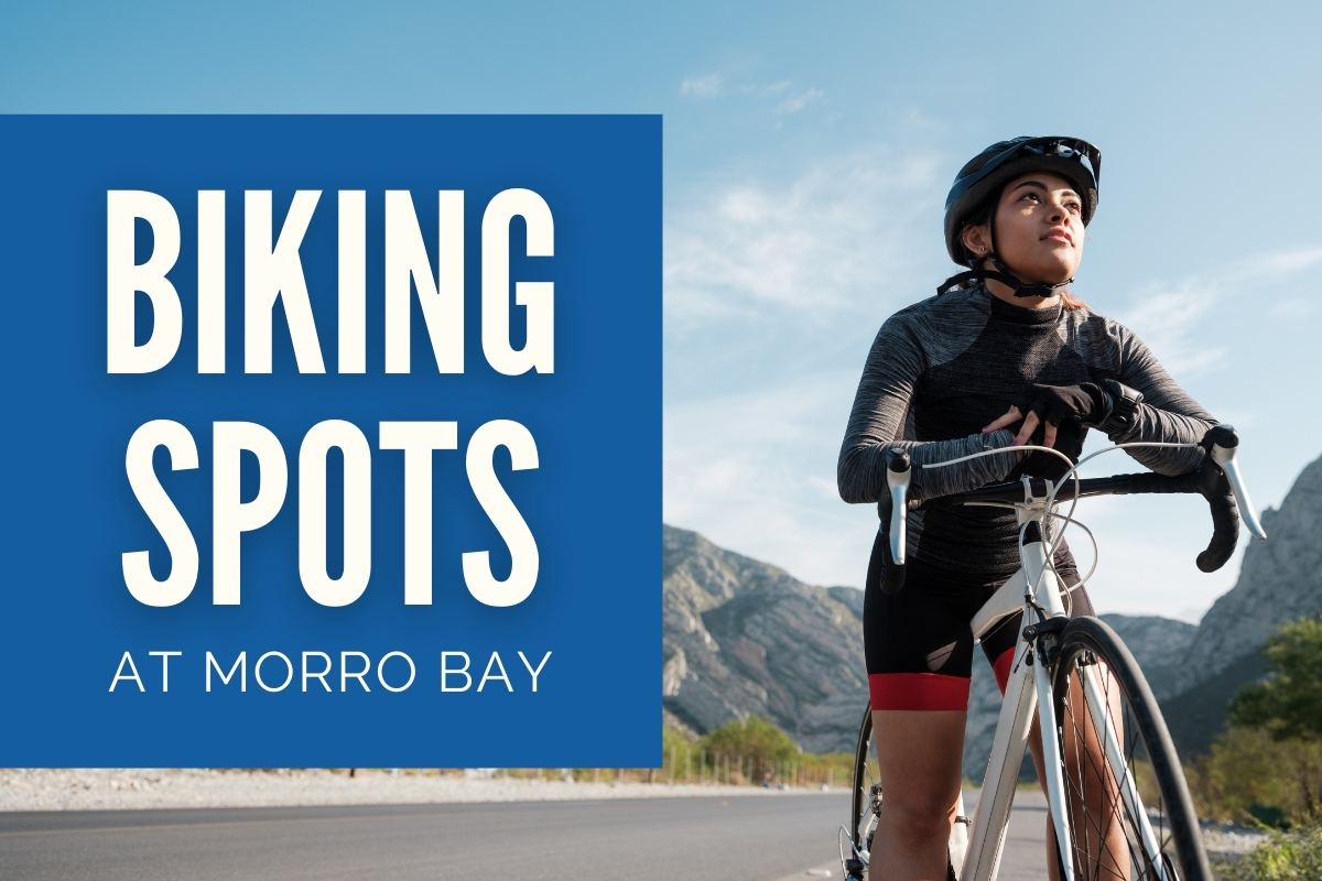 Woman biking - Biking Spots at Morro Bay