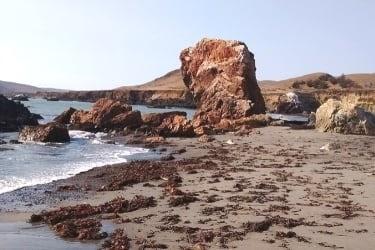 Rocks at Estero Bluff State Park near the beach