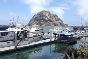 Morro Rock view from the museum