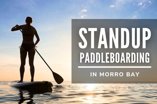 Standup Paddleboarding in Morro Bay - Woman paddleboarding