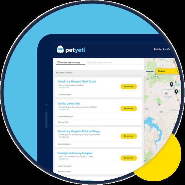 PetYeti product image  – iPad displaying PetYeti Online Portal