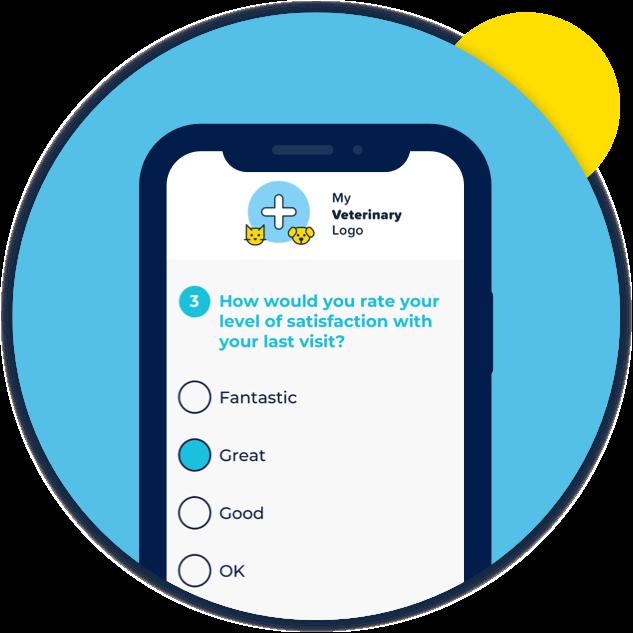 PetYeti product image  – Mobile device displaying PetYeti Easy Feedback