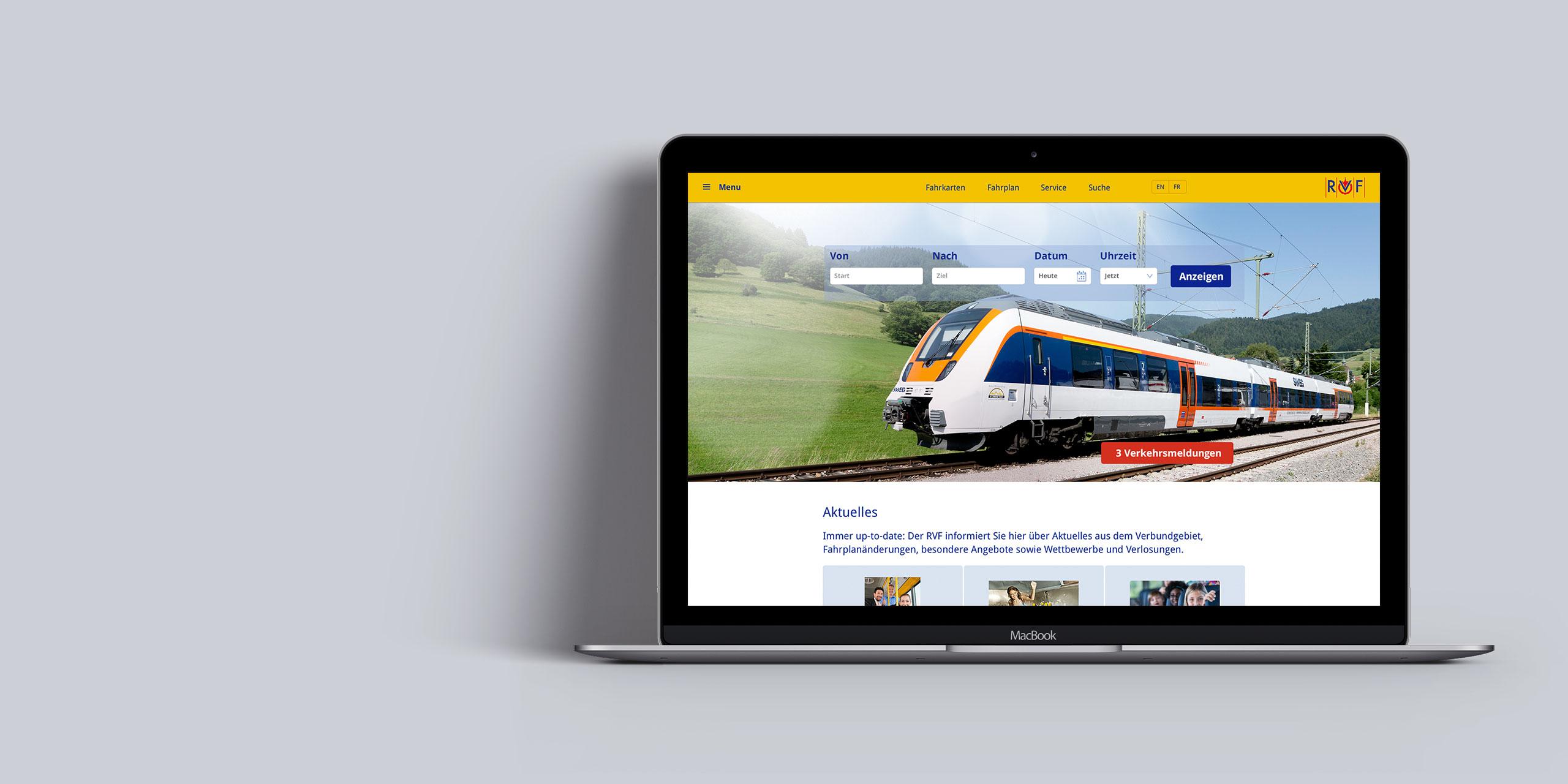 Website Regio Verkehr Verbund
