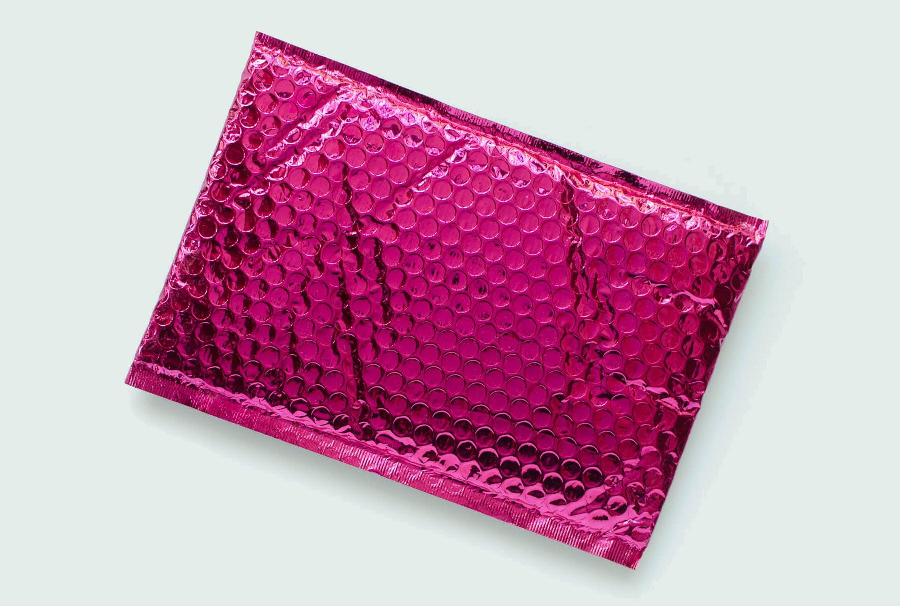 Pink metallic package