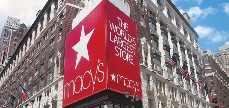 Macy's storefront in New York