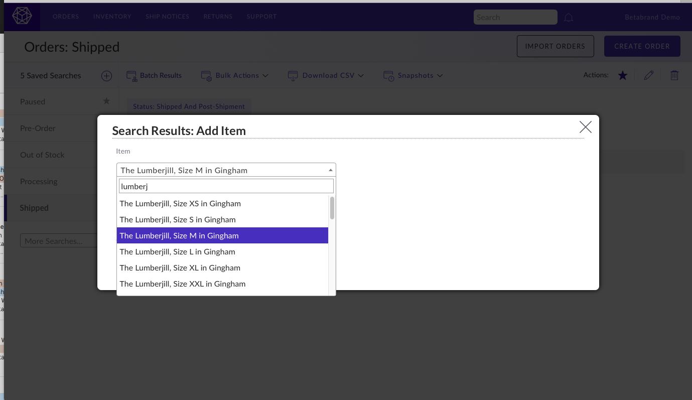 Screenshot of bulk update option