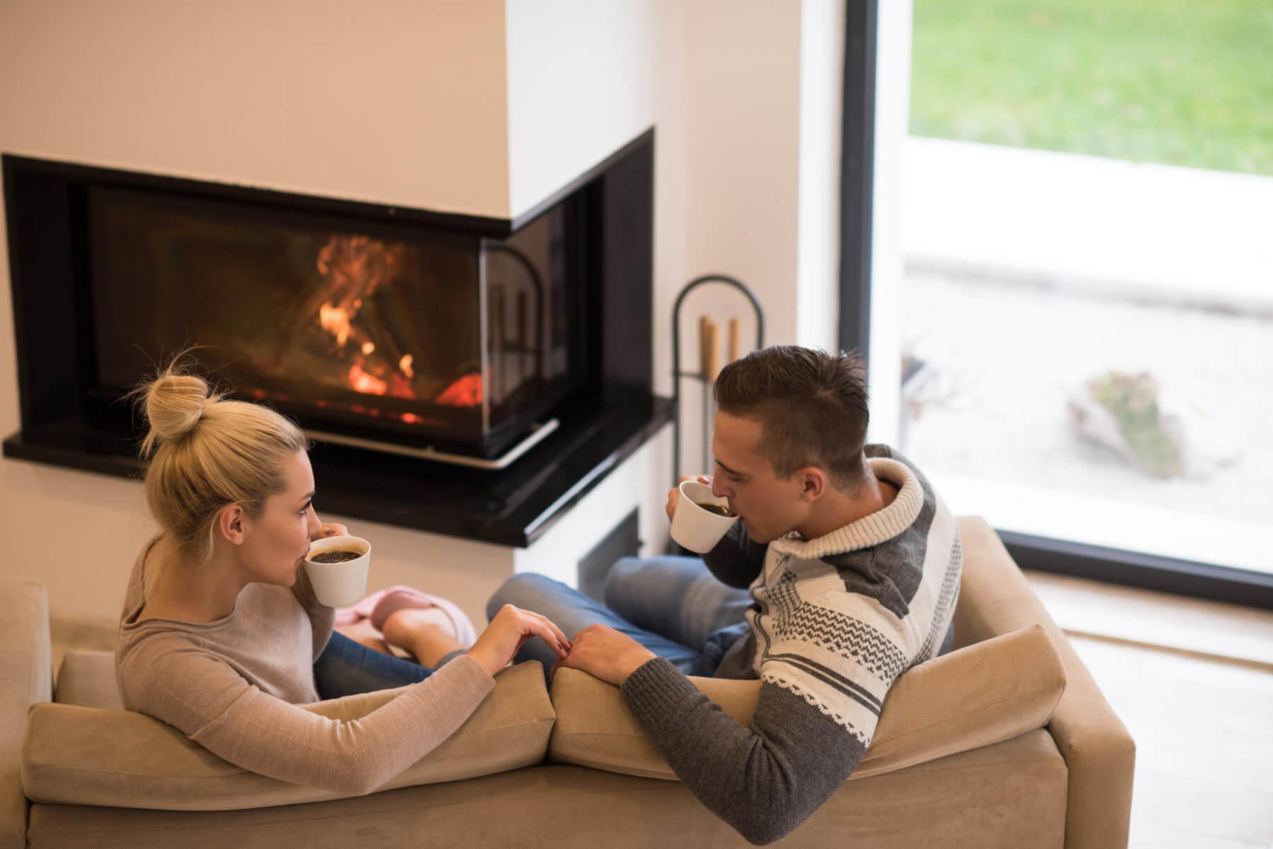 family near fireplace - jacksonville