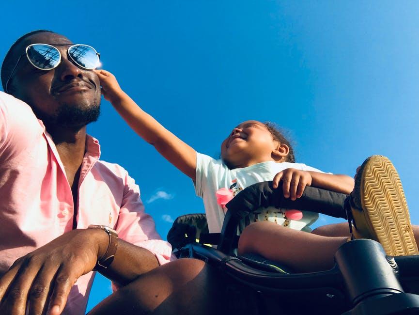 Baby Approaching Men's Black Sunglasses