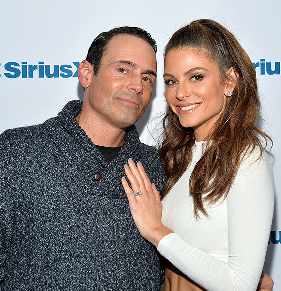 maria menounos and her husband pose on the red carpet amidst their fertility struggle