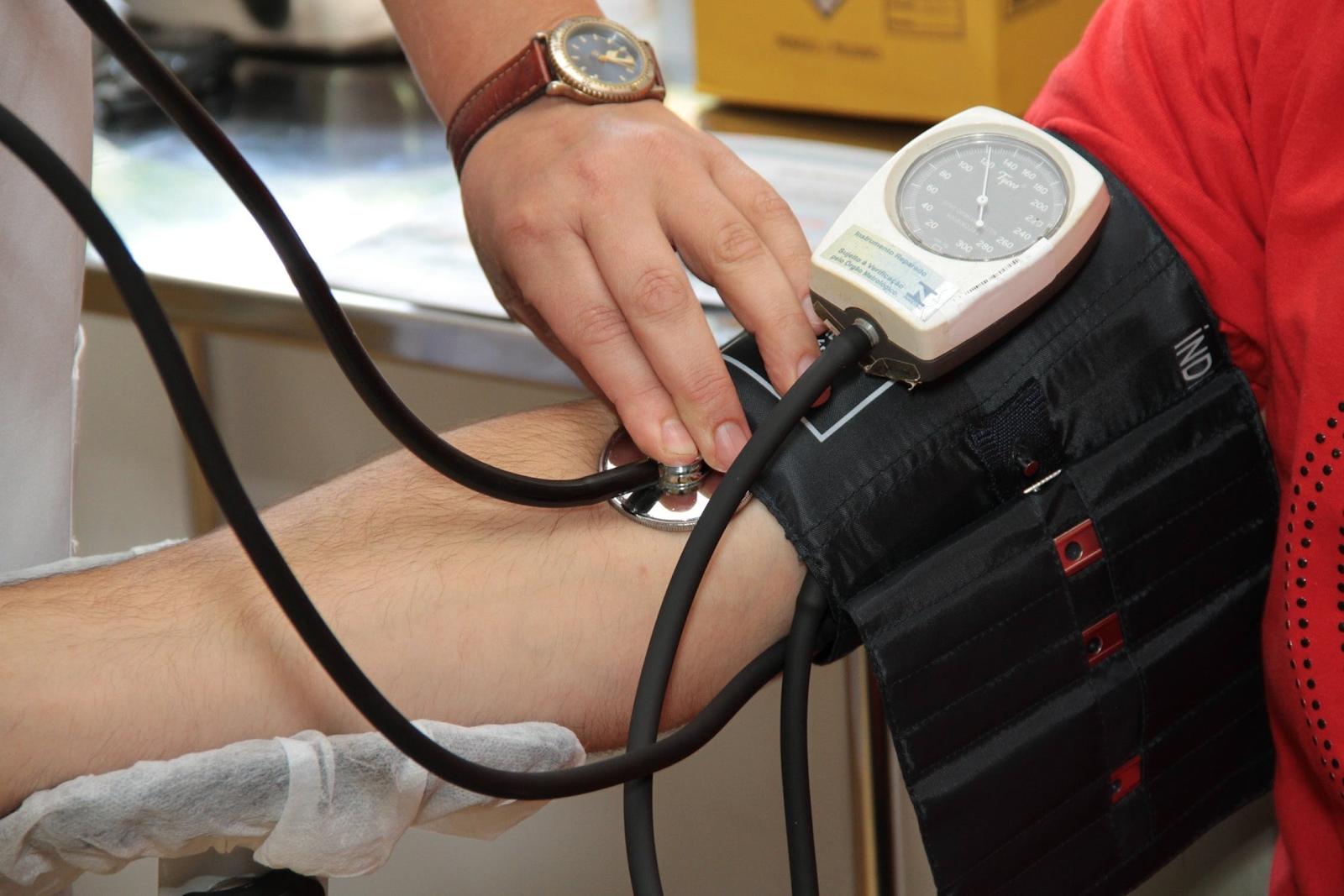 someone getting their blood pressure taken
