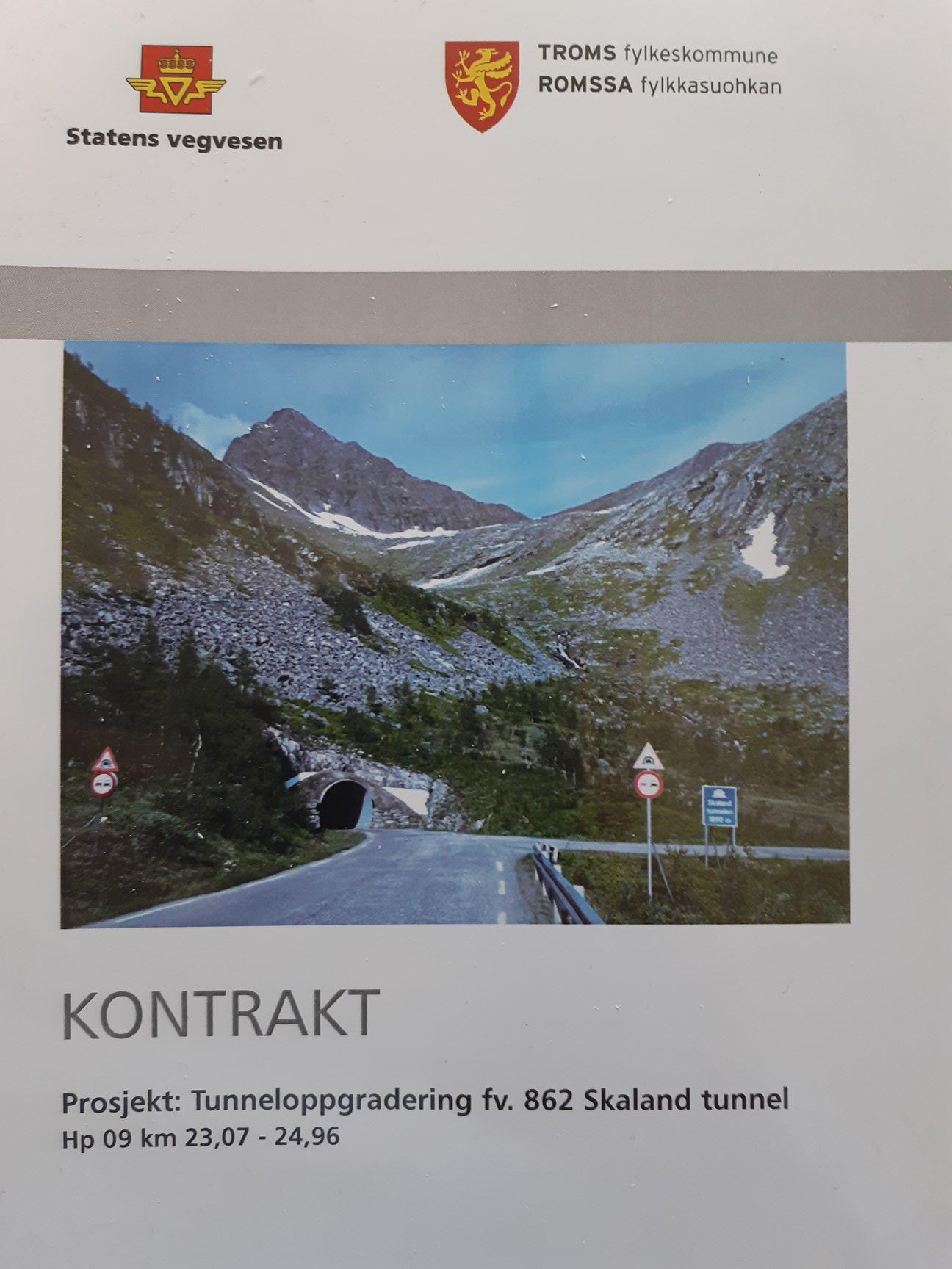 Tunneloppgradering fv.862 Skaland tunnel