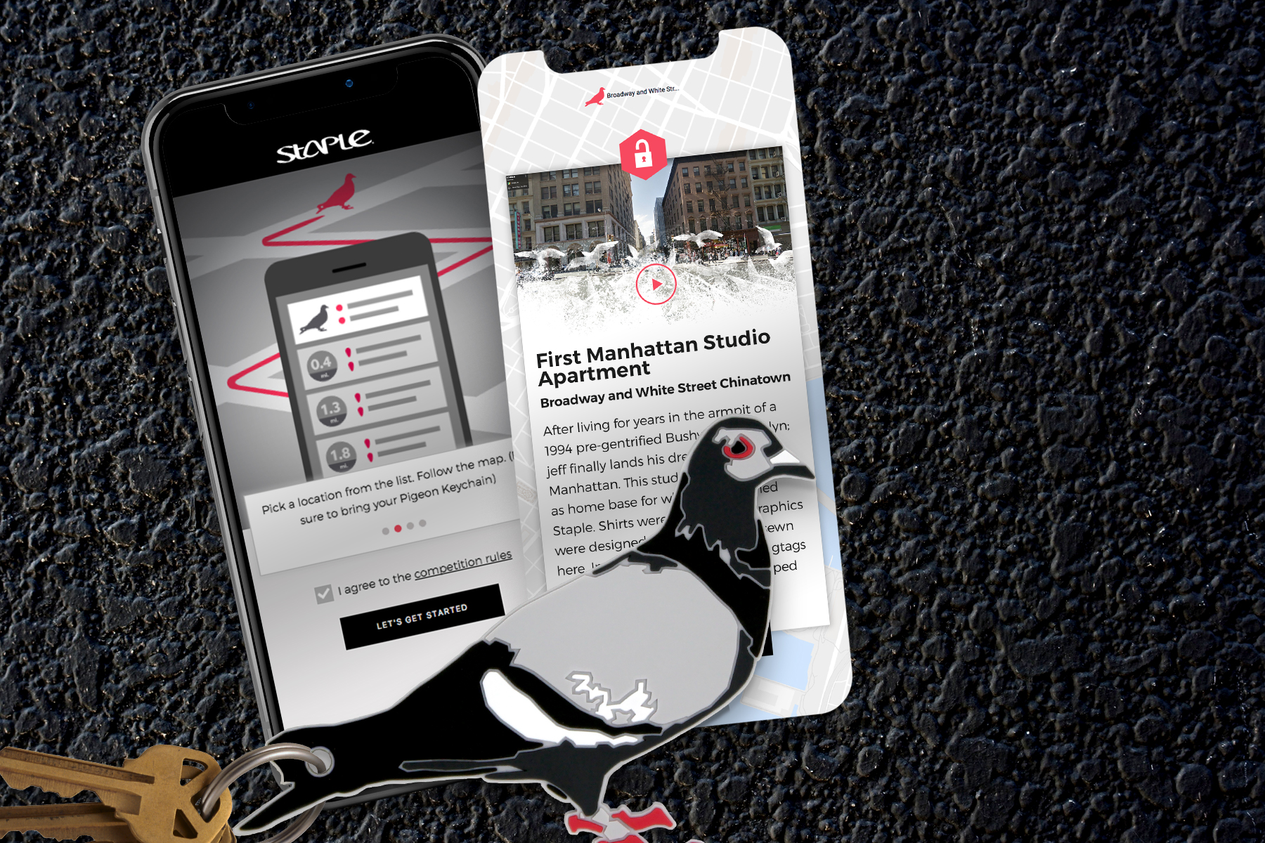 Pigeon Keychain and Experience