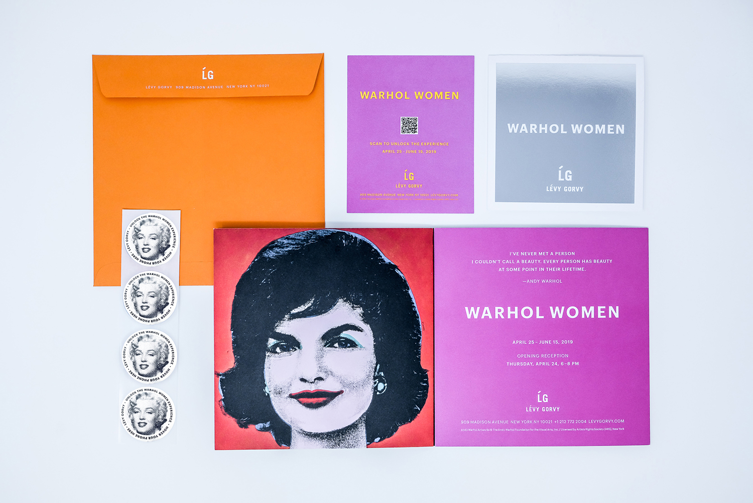 Warhol Women's comprehensive digital experience at the art gallery at the Levy Gallery powered by Blue Bite