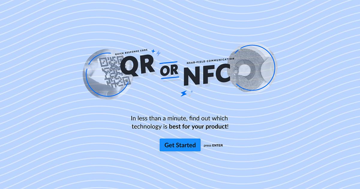 NFC or QR Quiz Banner
