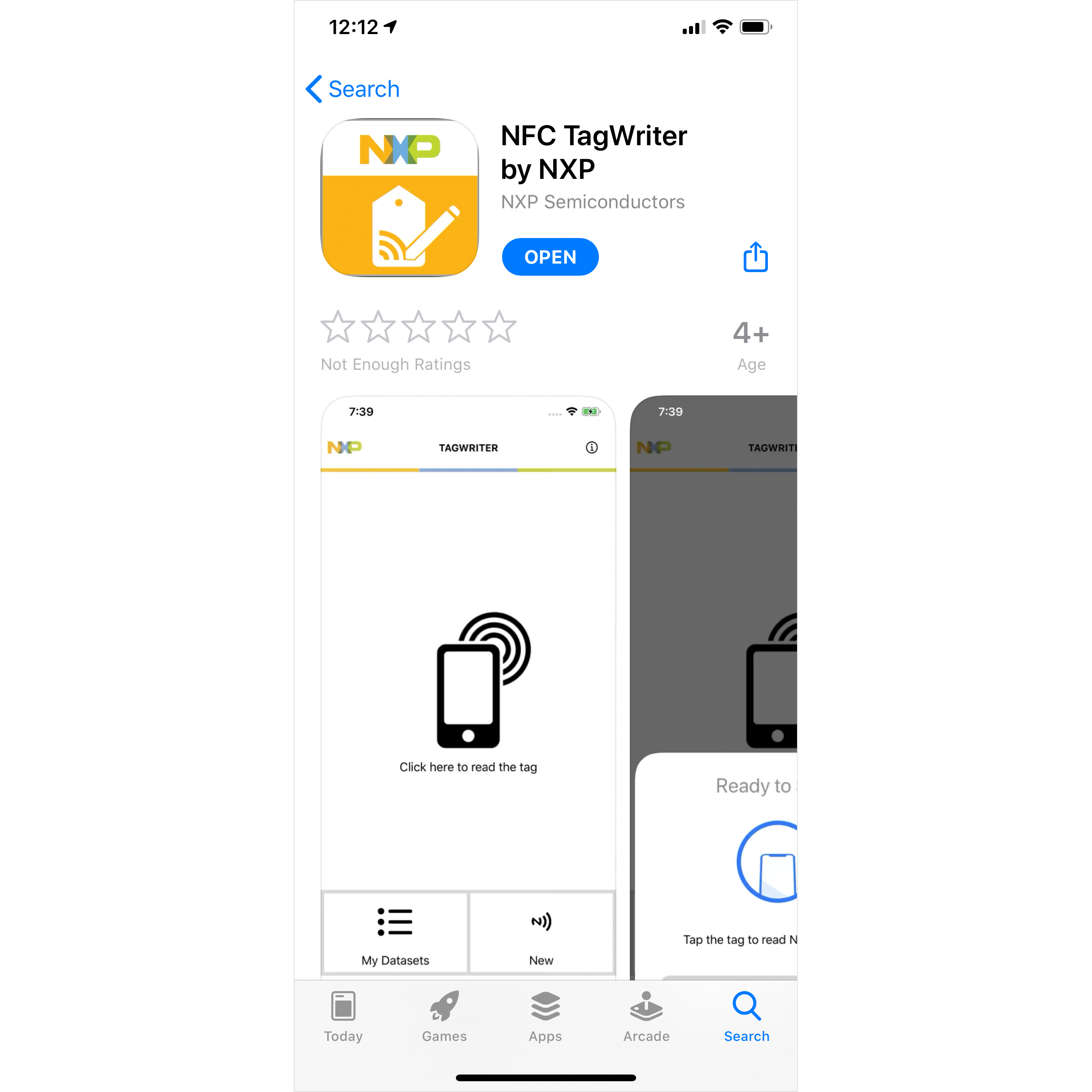 NFC Writer on iPhone and iOS 13