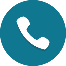 teal phone icon