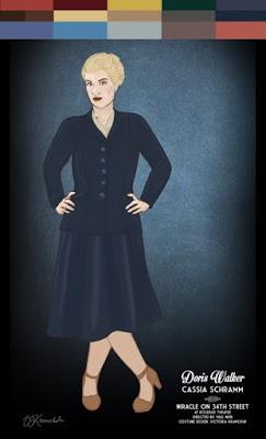Costume Rendering: Doris Walker. Design by Victoria Krawchuk